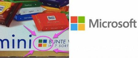 Microsoft брала вдохновение на создание логотипа у компании Ritter Sport?