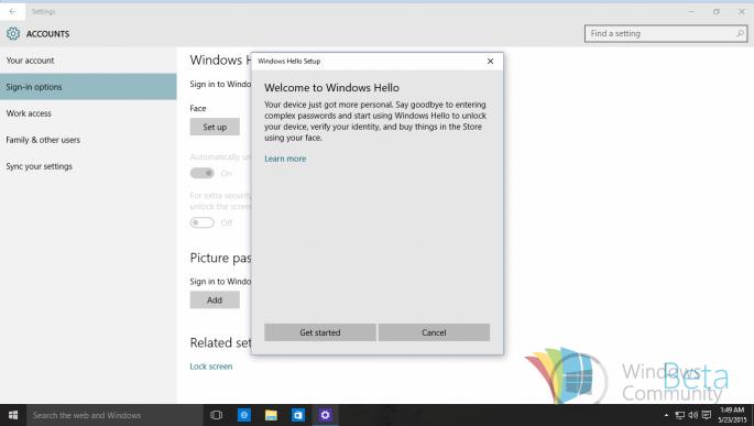 Windows Hello приобретает свои конечные очертания