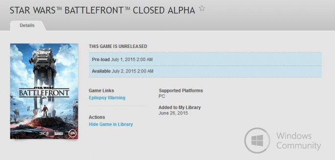 Закрытый Альфа-Тест Star Wars: Battlefront стартует в июле