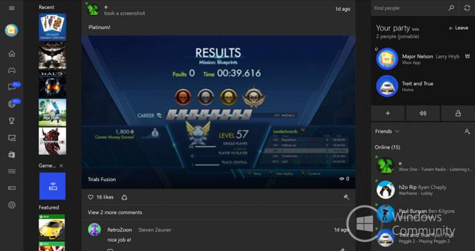 Трансляция игр с Xbox One на Windows 10 стала доступной