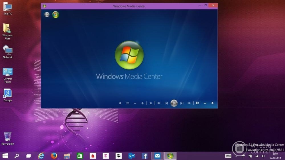 Windows 10 Technical Preview with Media Center не получит